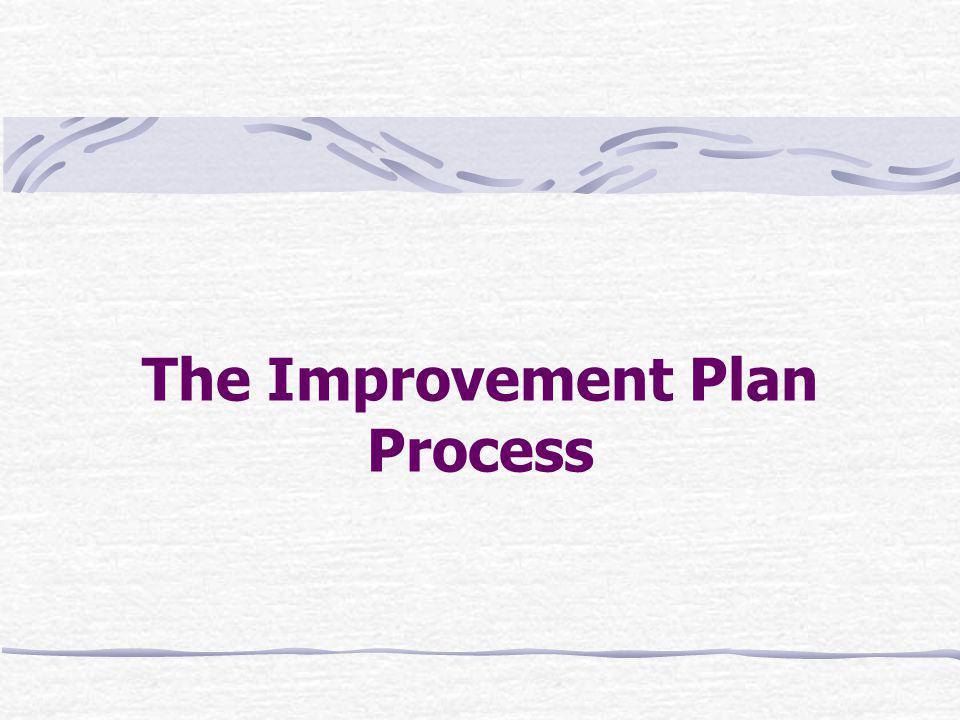 The Improvement Plan Process