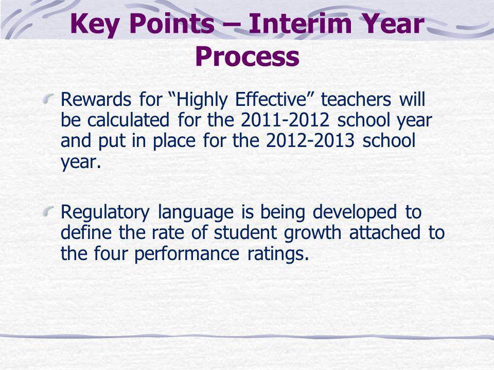Key Points – Interim Year Process