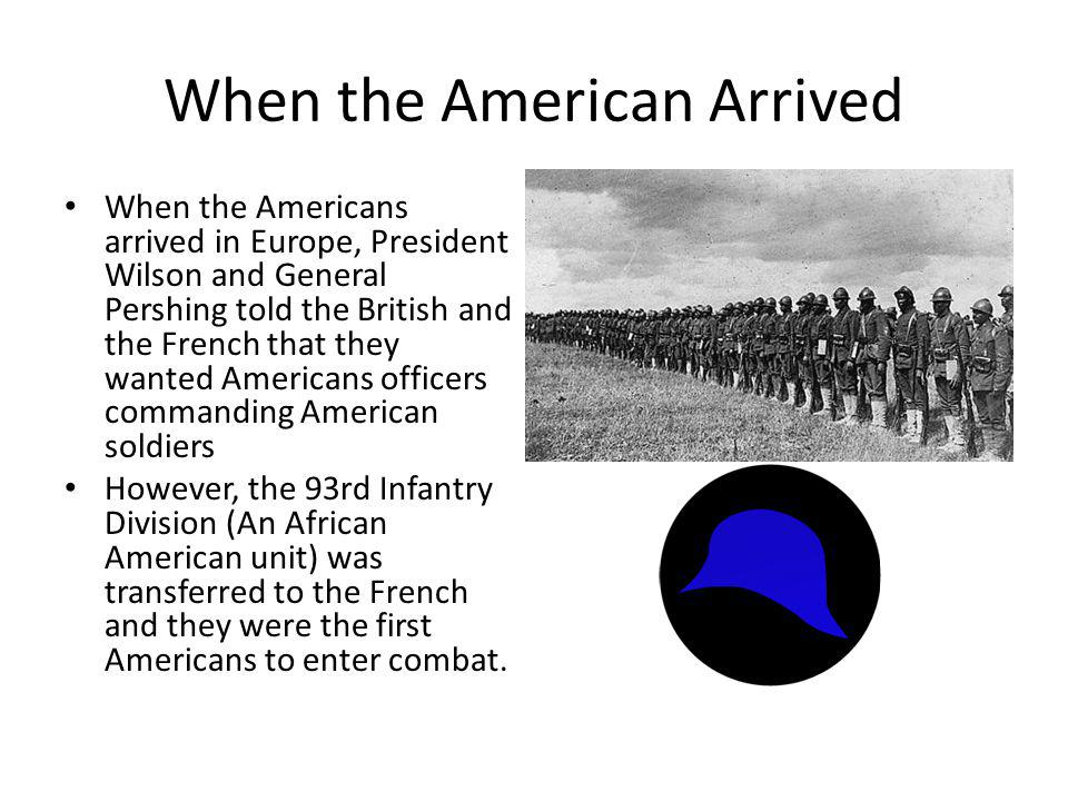 When the American Arrived