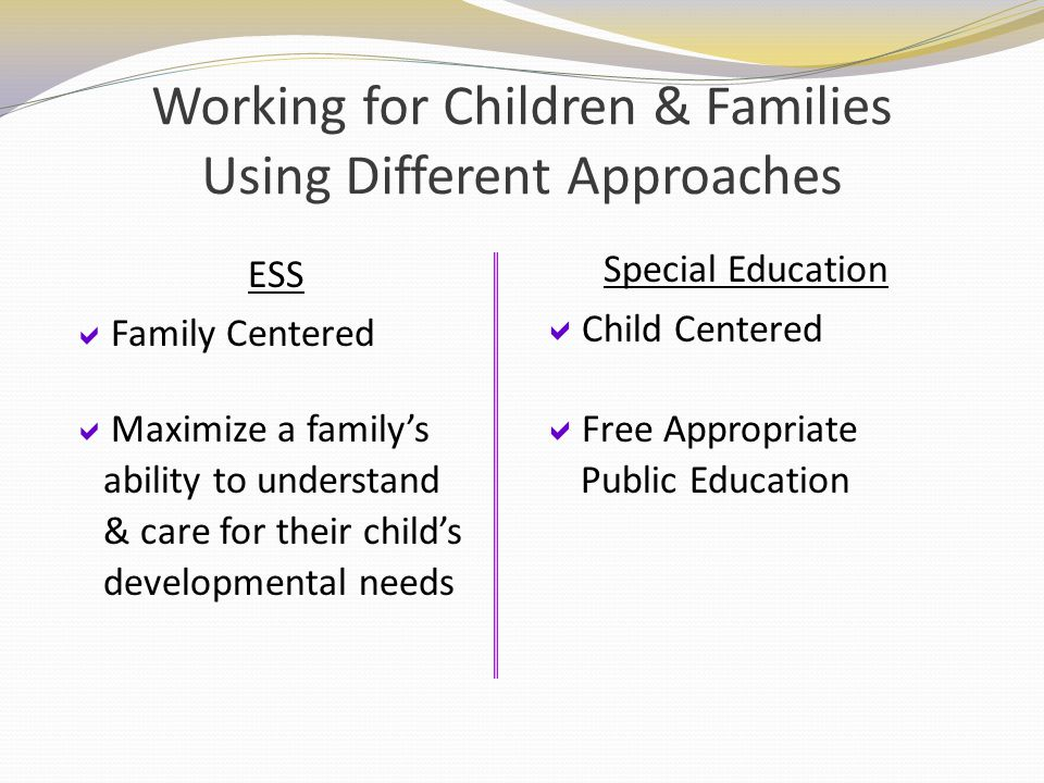 Working for Children & Families Using Different Approaches