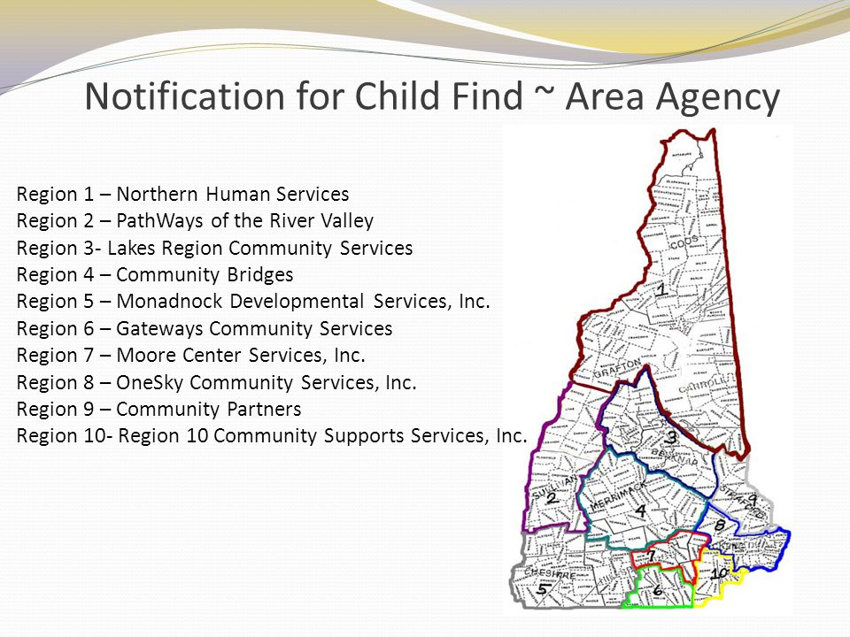Notification for Child Find ~ Area Agency