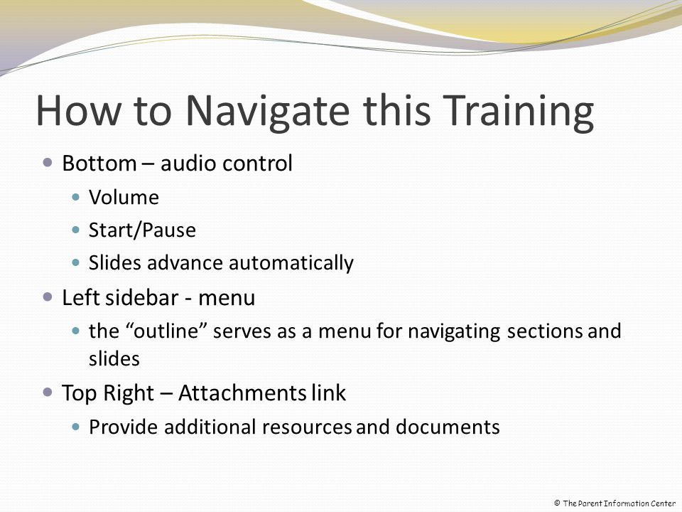 How to Navigate this Training