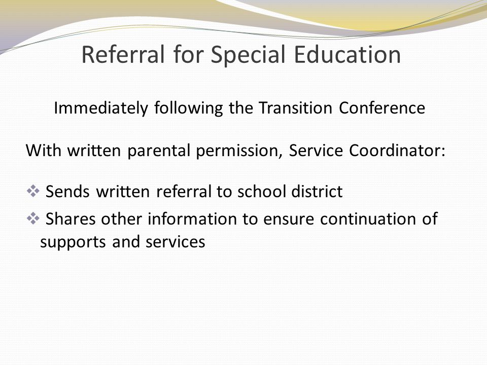 Referral for Special Education