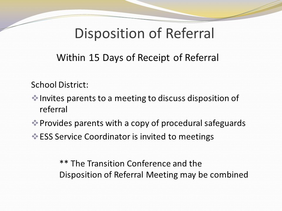 Disposition of Referral