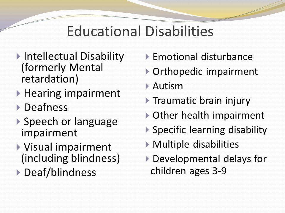 Educational Disabilities