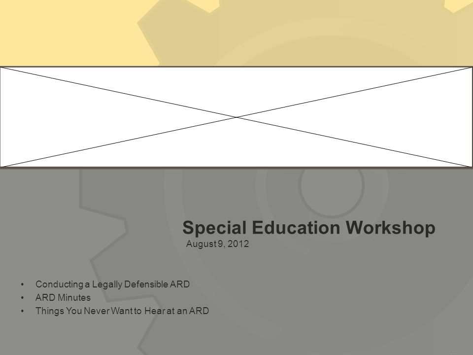 Special Education Workshop
