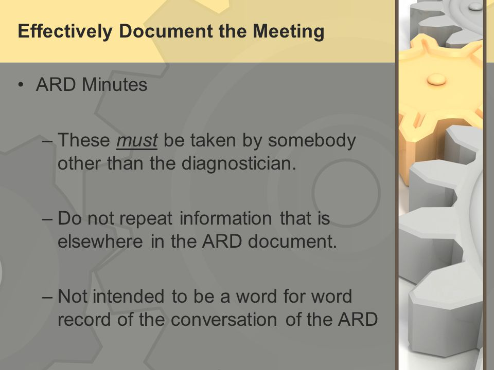 Effectively Document the Meeting