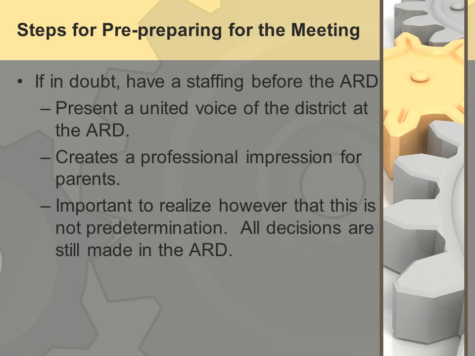 Steps for Pre-preparing for the Meeting
