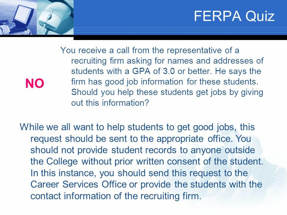 FERPA Quiz