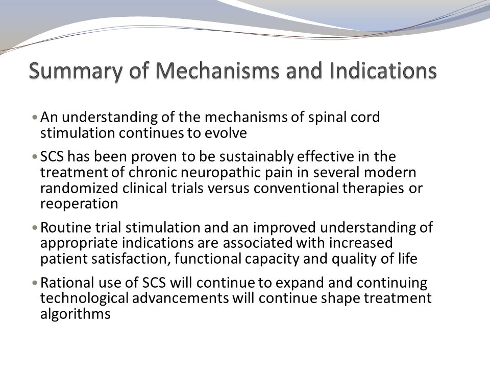 Summary of Mechanisms and Indications