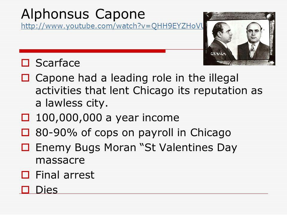 Alphonsus Capone http://www.youtube.com/watch v=QHH9EYZHoVU