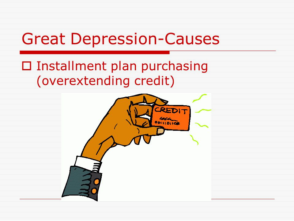 Great Depression-Causes