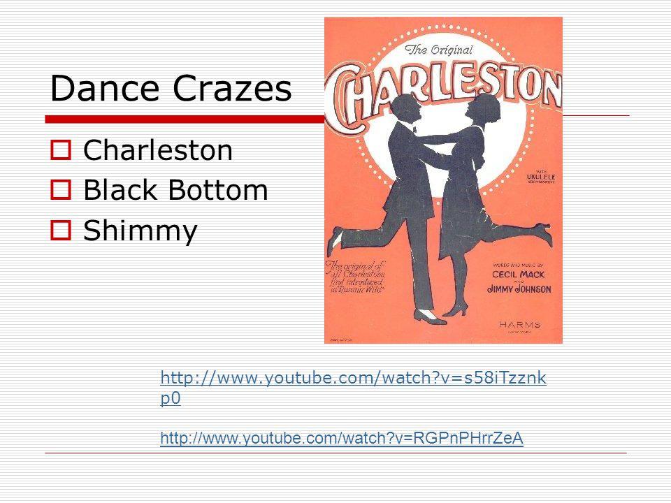 Dance Crazes Charleston Black Bottom Shimmy