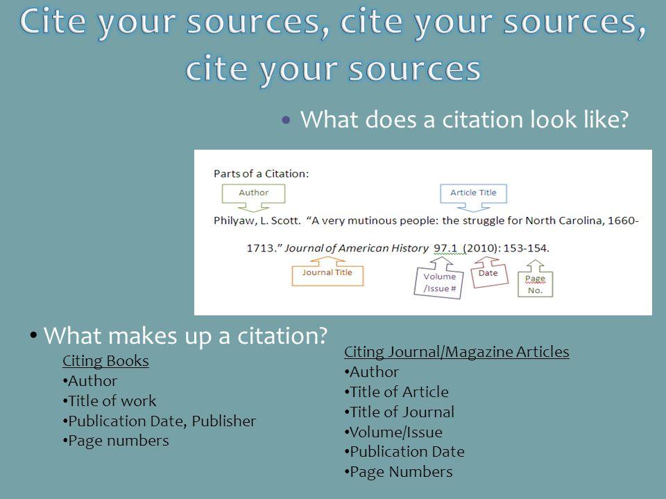 Cite your sources, cite your sources, cite your sources