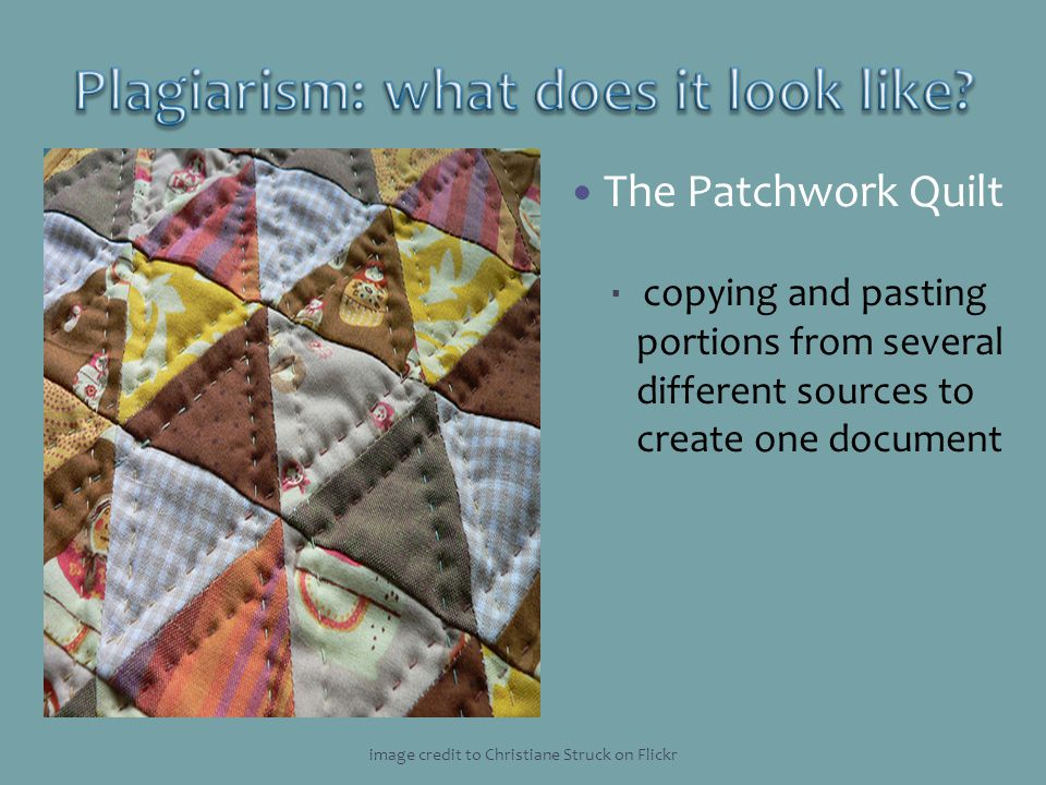 Plagiarism: what does it look like