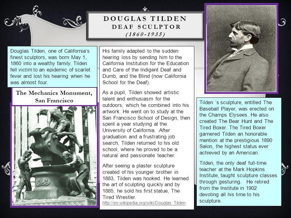 Douglas Tilden Deaf Sculptor (1860-1935)