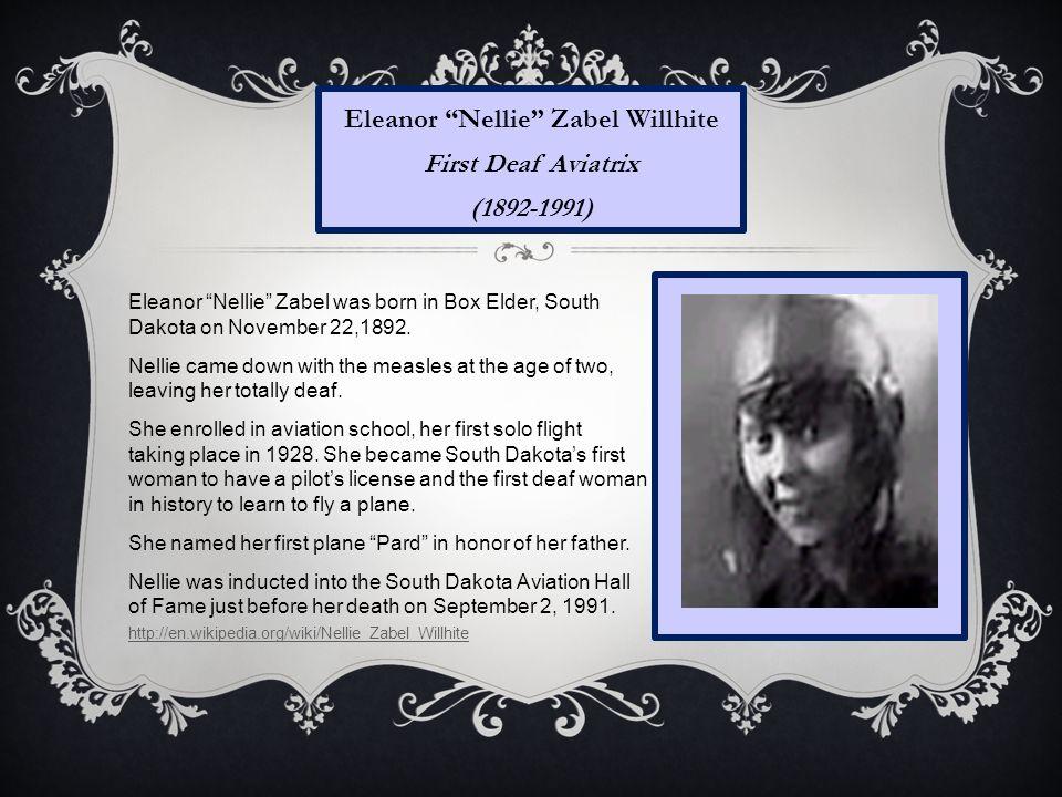 Eleanor Nellie Zabel Willhite