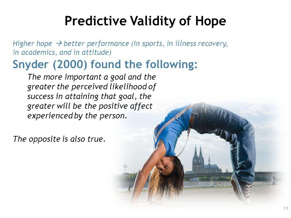 Predictive Validity of Hope