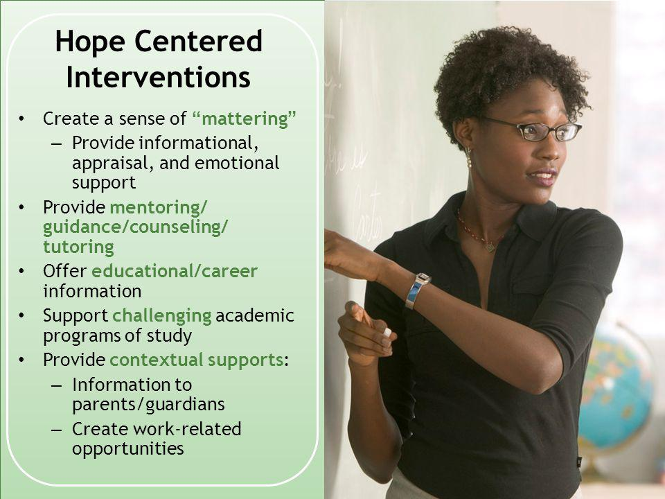Hope Centered Interventions
