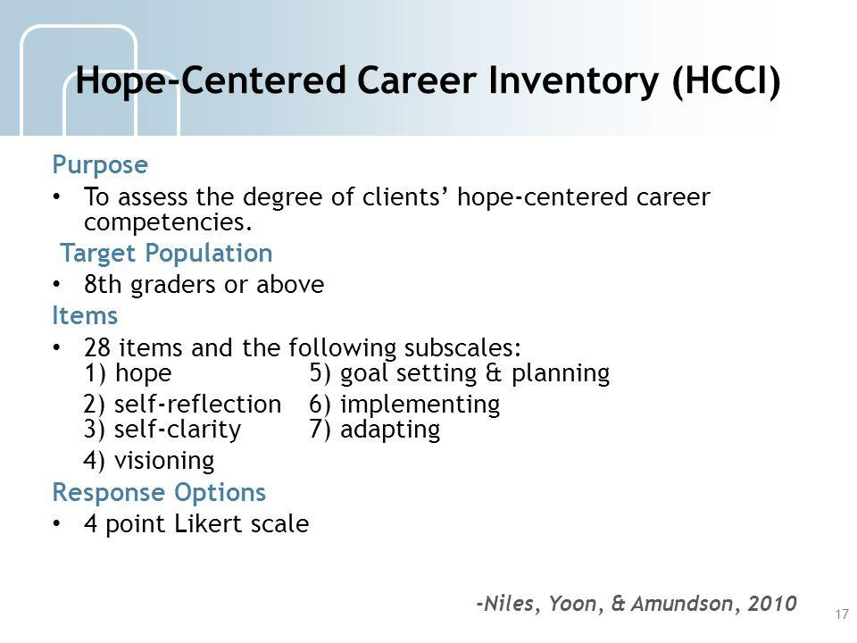 Hope-Centered Career Inventory (HCCI)