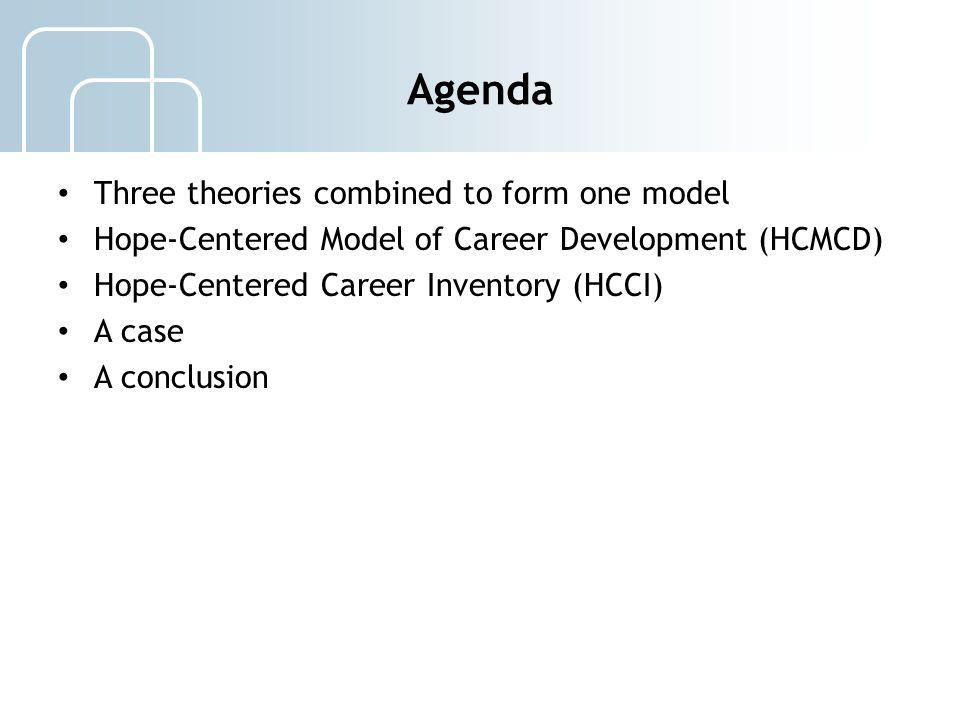Agenda Three theories combined to form one model