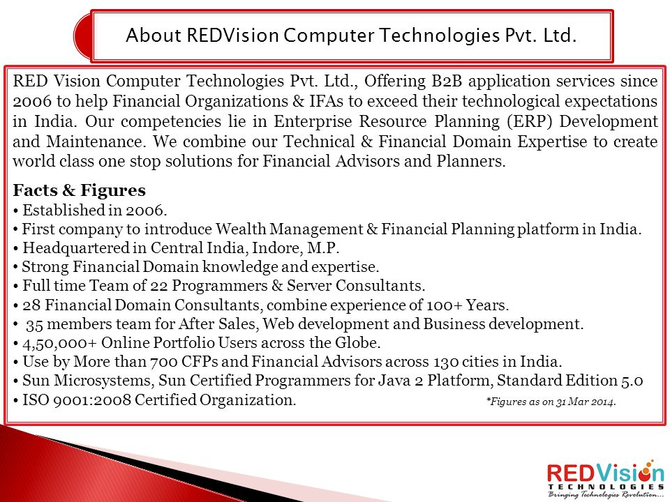 About REDVision Computer Technologies Pvt. Ltd.