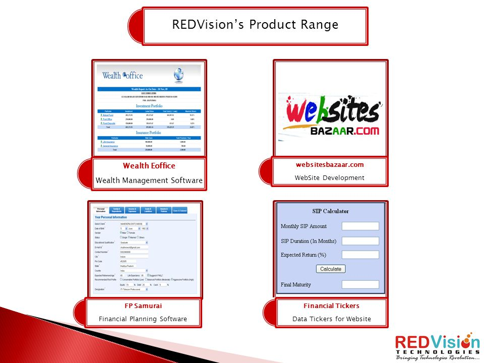 REDVision's Product Range