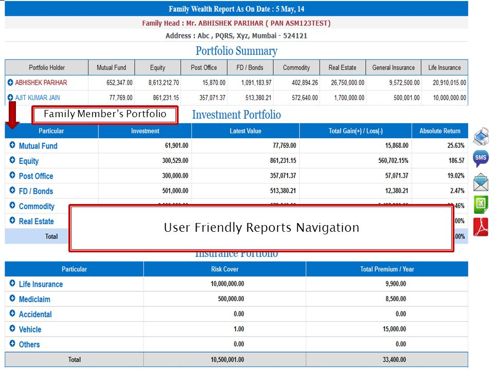 User Friendly Reports Navigation