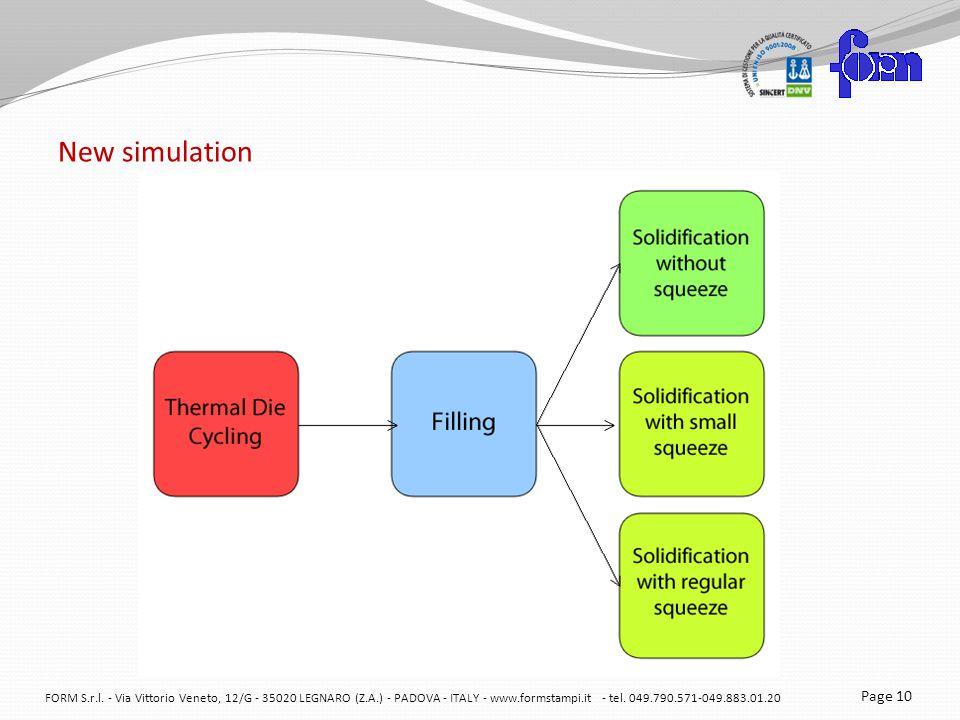 New simulation FORM S.r.l.