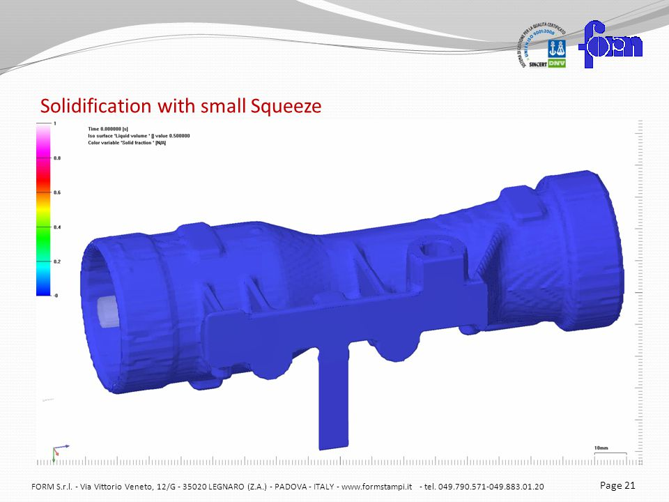 Solidification with small Squeeze