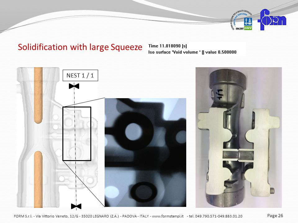 Solidification with large Squeeze