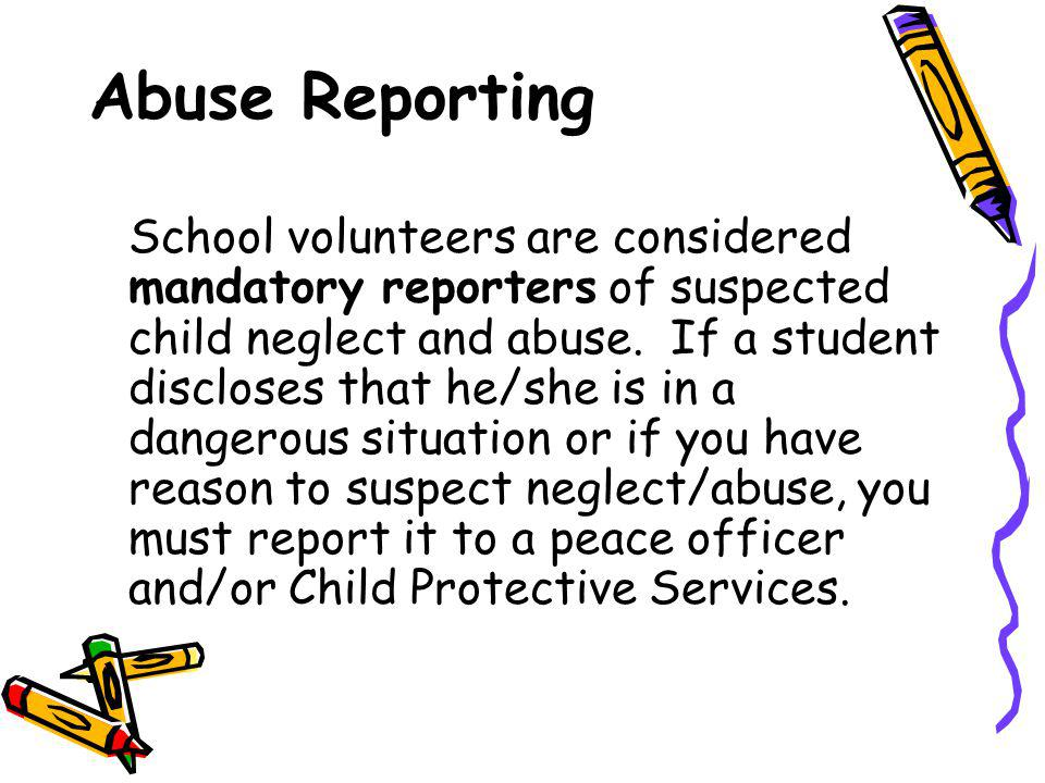 Abuse Reporting
