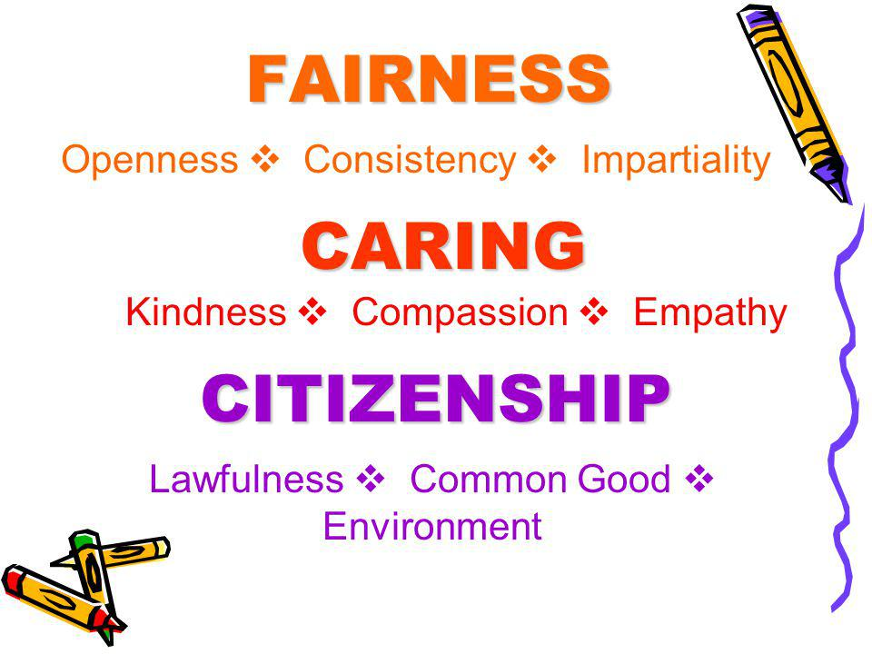 FAIRNESS CARING CITIZENSHIP