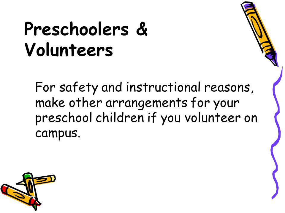 Preschoolers & Volunteers