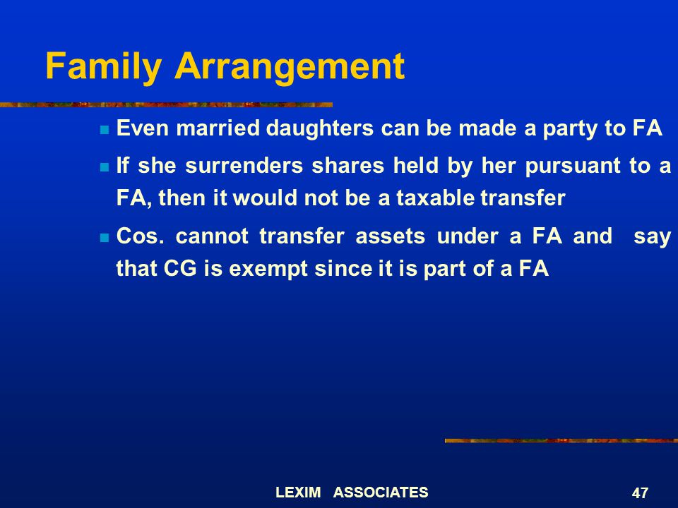 Family Arrangement Even married daughters can be made a party to FA