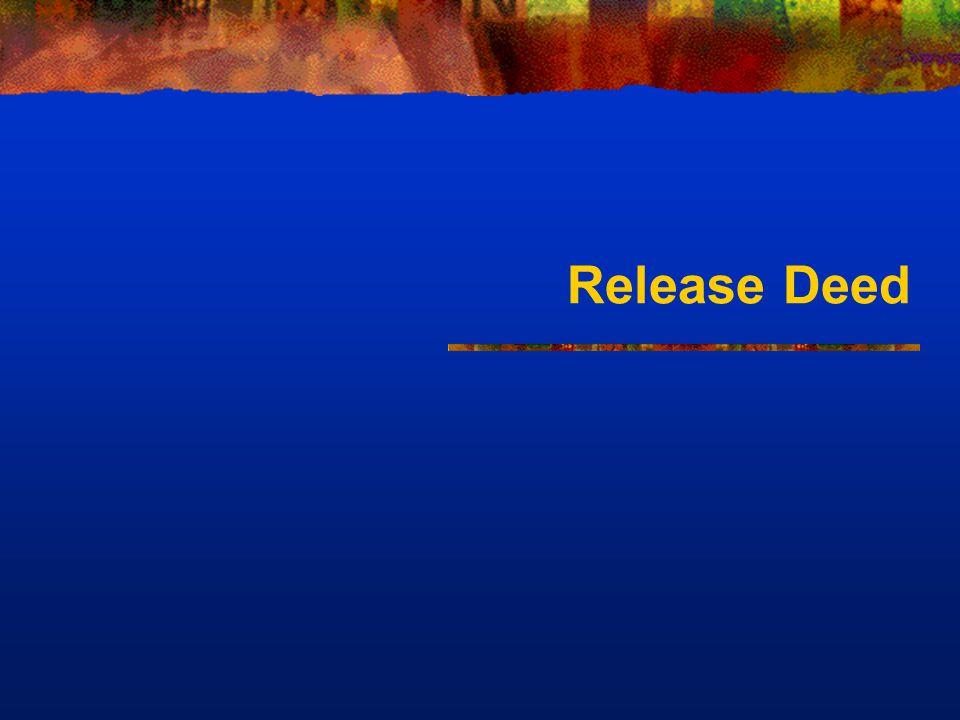 Release Deed