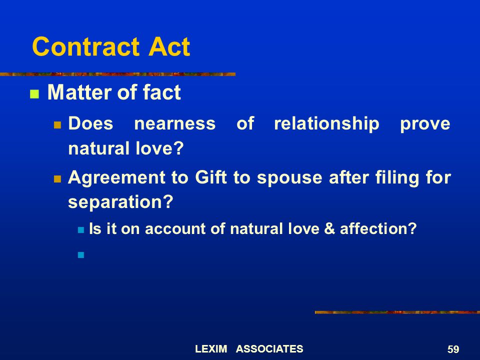 Contract Act Matter of fact