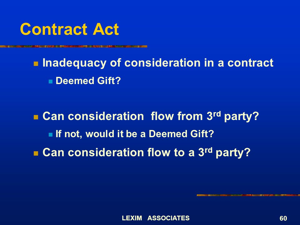 Contract Act Inadequacy of consideration in a contract