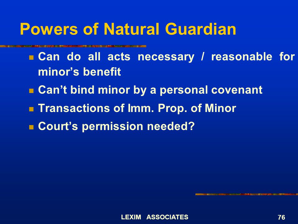 Powers of Natural Guardian