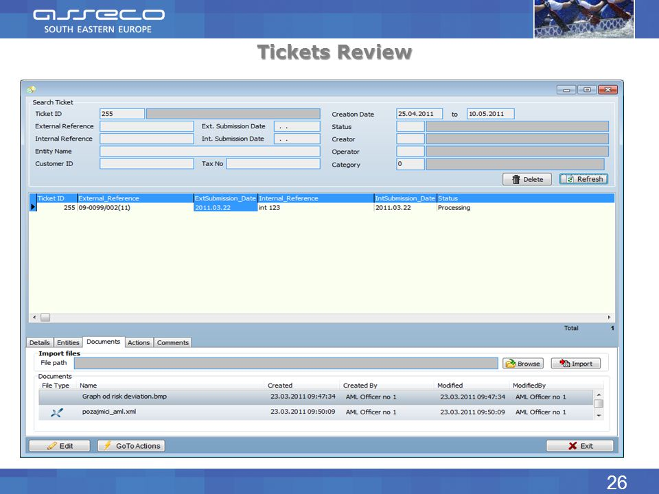 Tickets Review 26