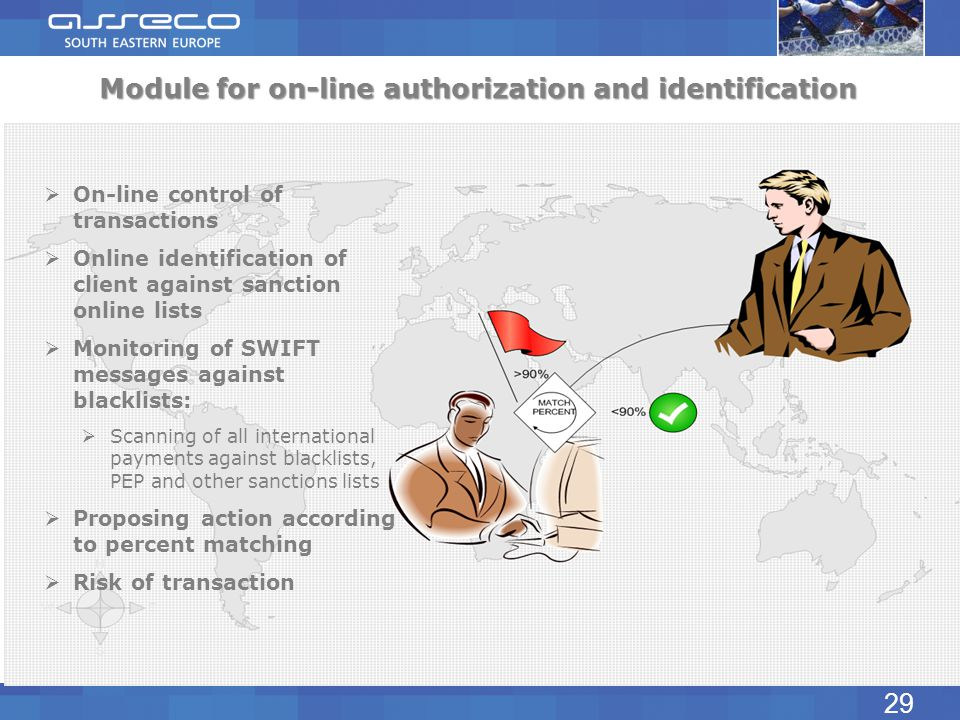 Module for on-line authorization and identification