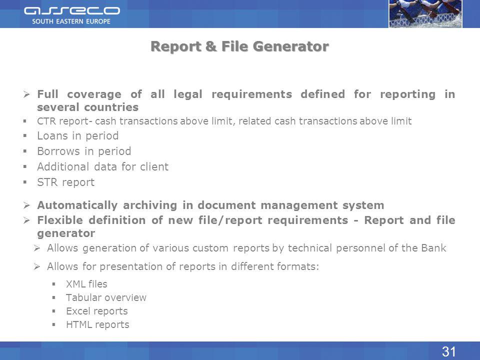 Report & File Generator