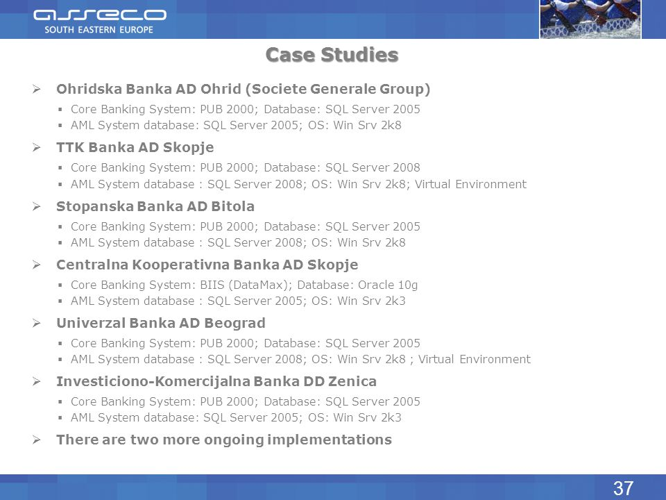 Case Studies 37 Ohridska Banka AD Ohrid (Societe Generale Group)