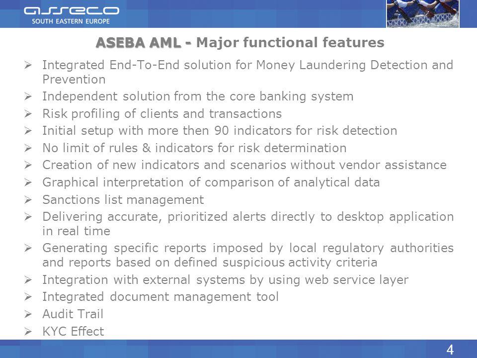 ASEBA AML - Major functional features