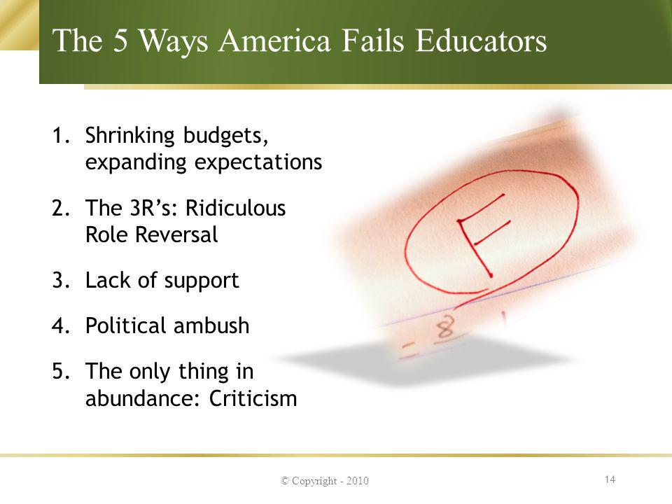 The 5 Ways America Fails Educators
