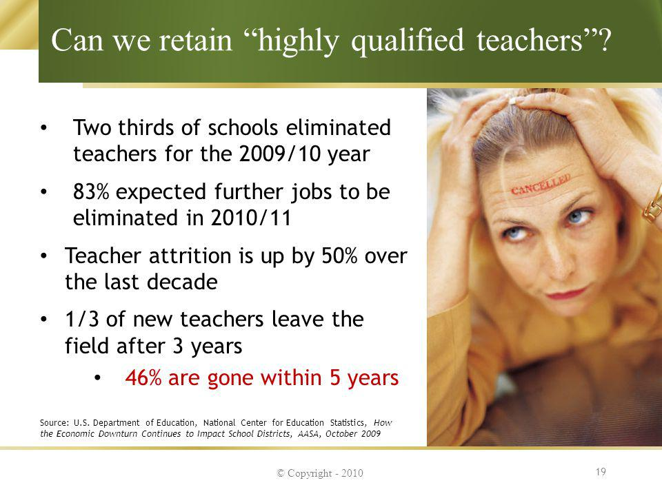 Can we retain highly qualified teachers