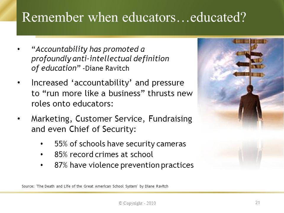 Remember when educators…educated