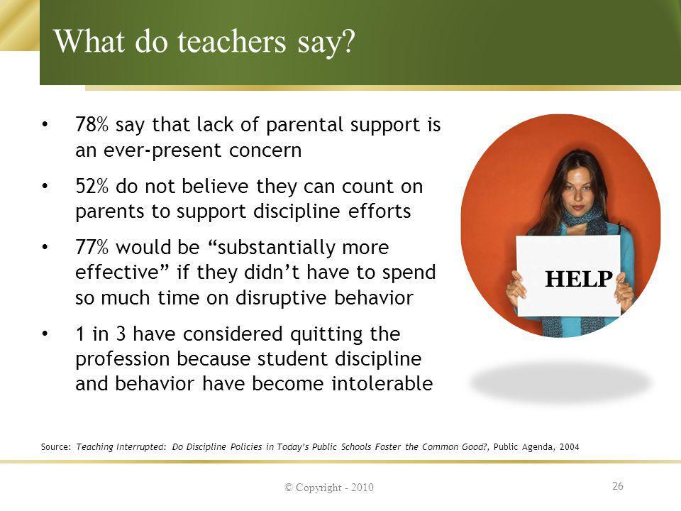 What do teachers say HELP