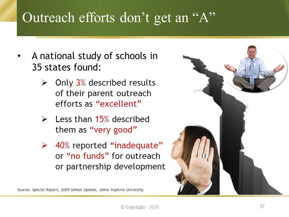Outreach efforts don't get an A
