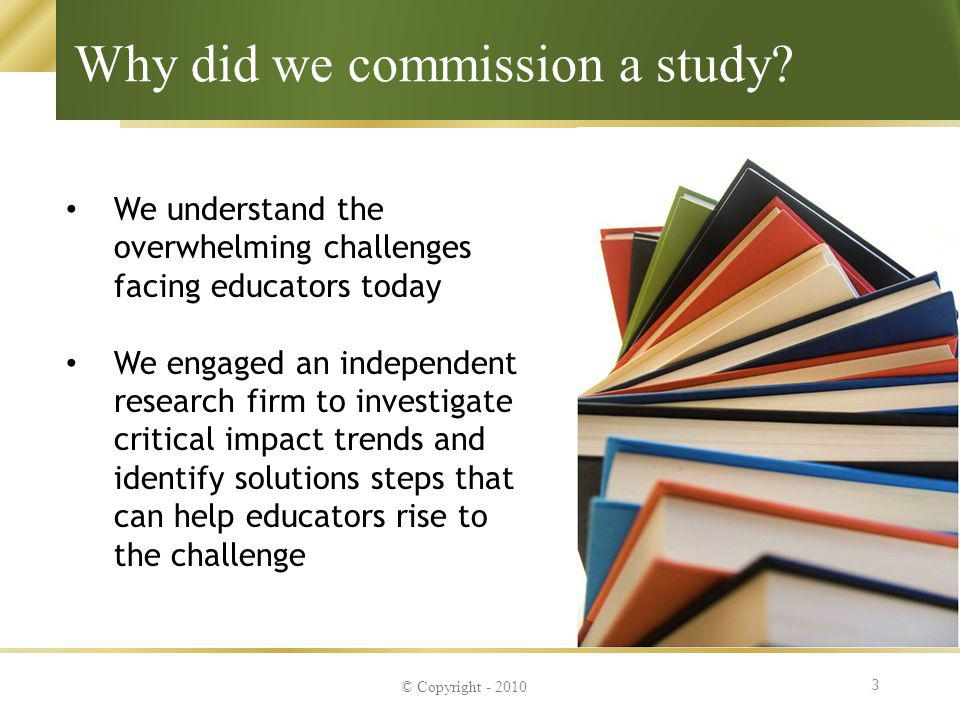 Why did we commission a study